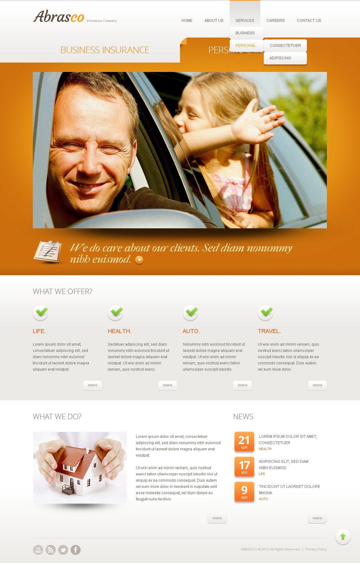 Orange Insurance Drupal sablon 42370