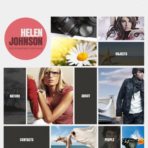 Helen Johnson - Facebook HTML CMS Template