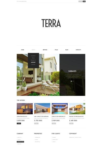Responsive Plantilla Web #42342 para Sitio de  para Sitio de Agencias inmobiliarias