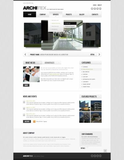 Plantilla Web #42322 para Sitio de  para Sitio de Arquitectura