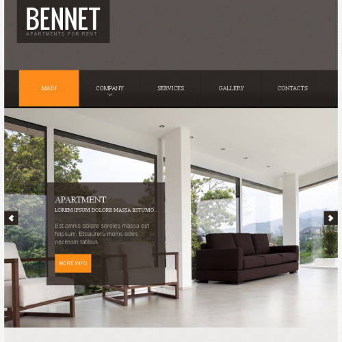 Bennet Real Estate - Facebook HTML CMS Template