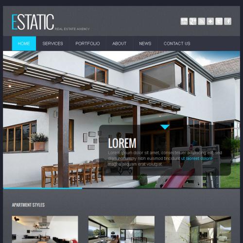 Estatic Real Estate - Facebook HTML CMS Template