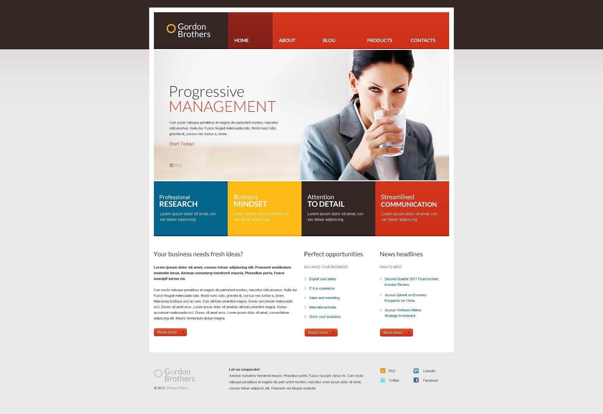 Responsywny szablon Drupal Motley Management #42347 - zrzut ekranu