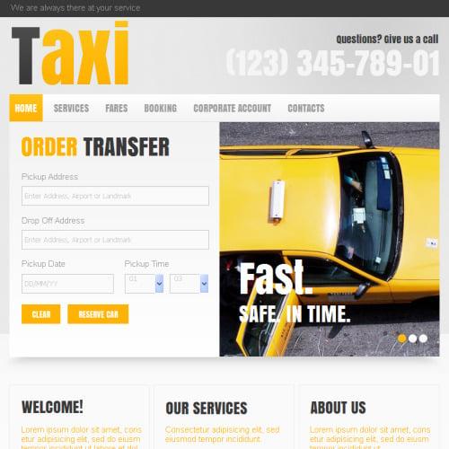 Taxi - Facebook HTML CMS Template