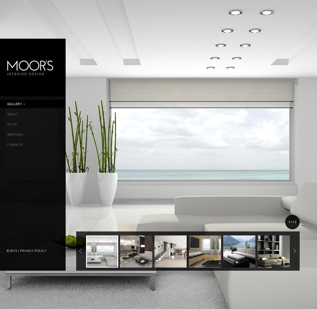 Template siti web 42345 per un sito di design di interni for Siti design interni