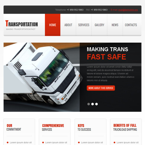 Transportation - Facebook HTML CMS Template