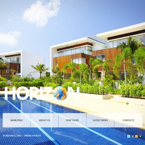 Horizon Travel - Facebook HTML CMS Template