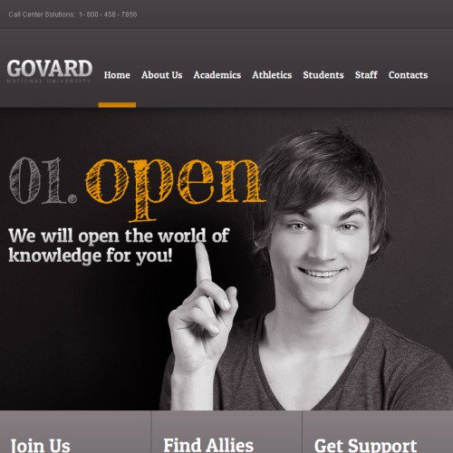 Govard - Facebook HTML CMS Template