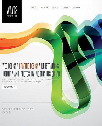 Web Design Facebook HTML CMS Template Facebook Screenshot
