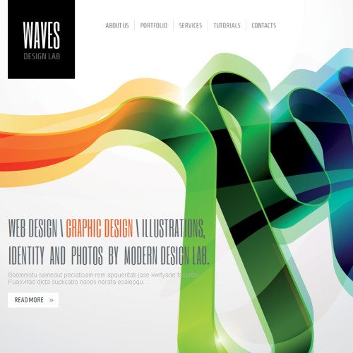 Waves - Facebook HTML CMS Template