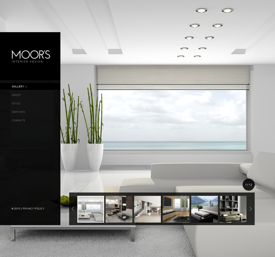Website template over Interieur-design №42345
