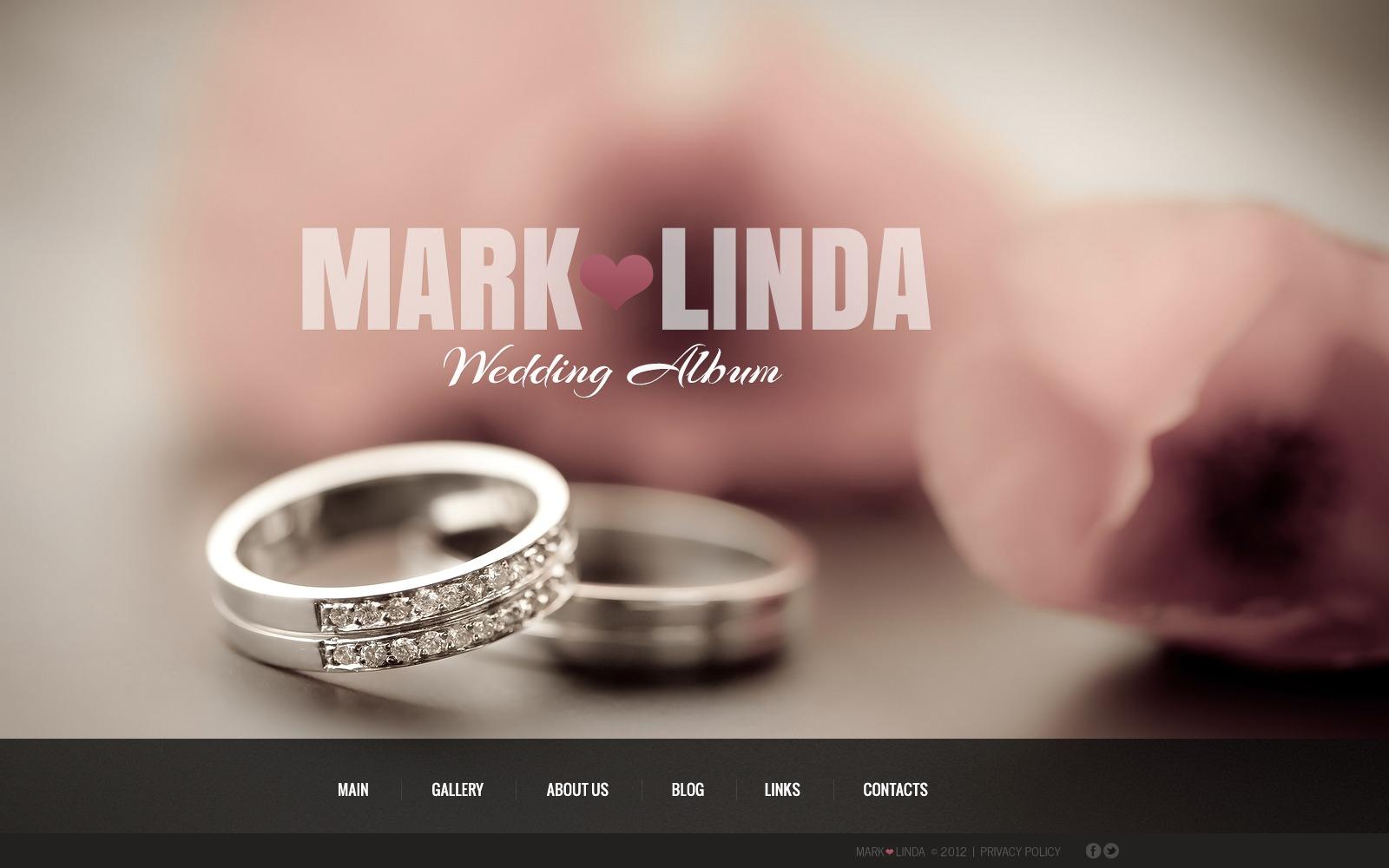 Wedding Album WordPress Theme #42357