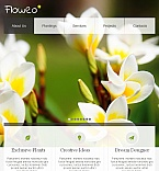 Flowers Facebook HTML CMS  Template 42402