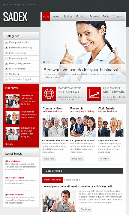 ADOBE Photoshop Template 42404 Home Page Screenshot