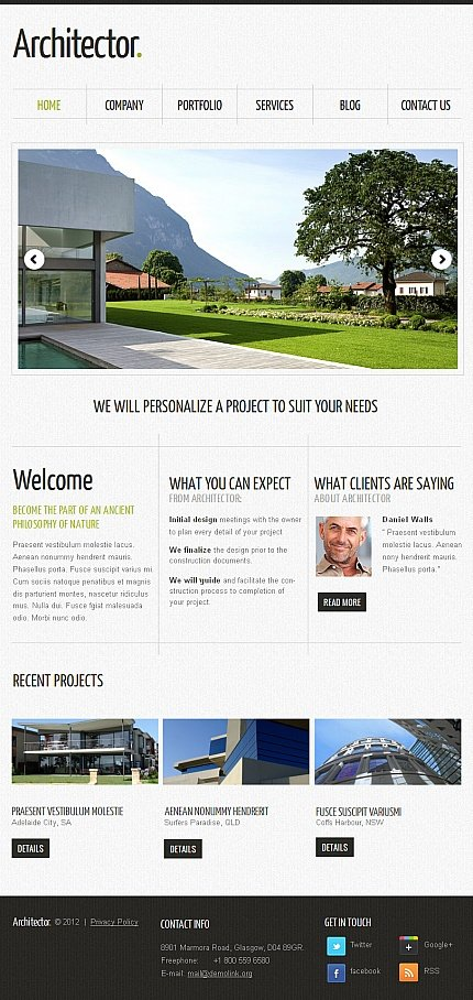 ADOBE Photoshop Template 42406 Home Page Screenshot