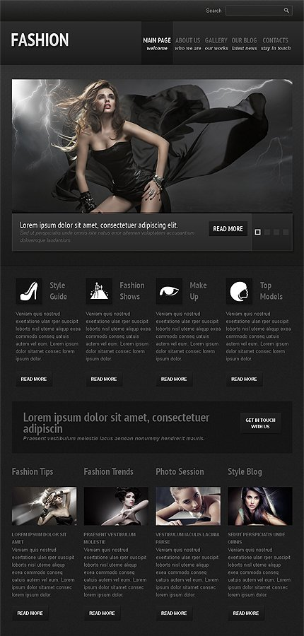 Joomla Theme/Template 42419 Main Page Screenshot