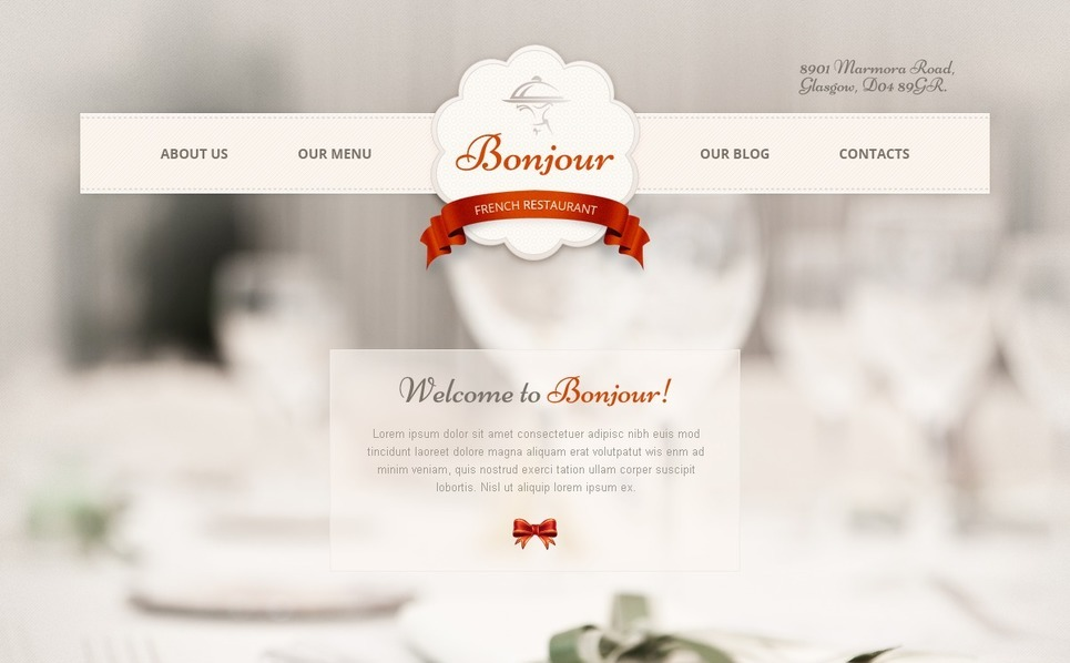 Joomla Template over Frans Restaurant  New Screenshots BIG