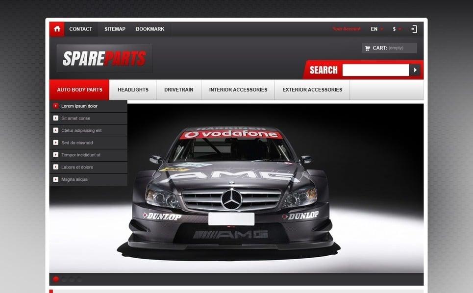Reszponzív Autóalkatrészek PrestaShop sablon New Screenshots BIG