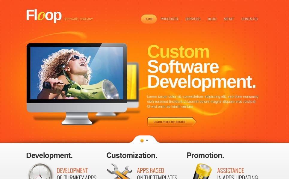 Moto CMS HTML Vorlage für Softwarefirma  New Screenshots BIG