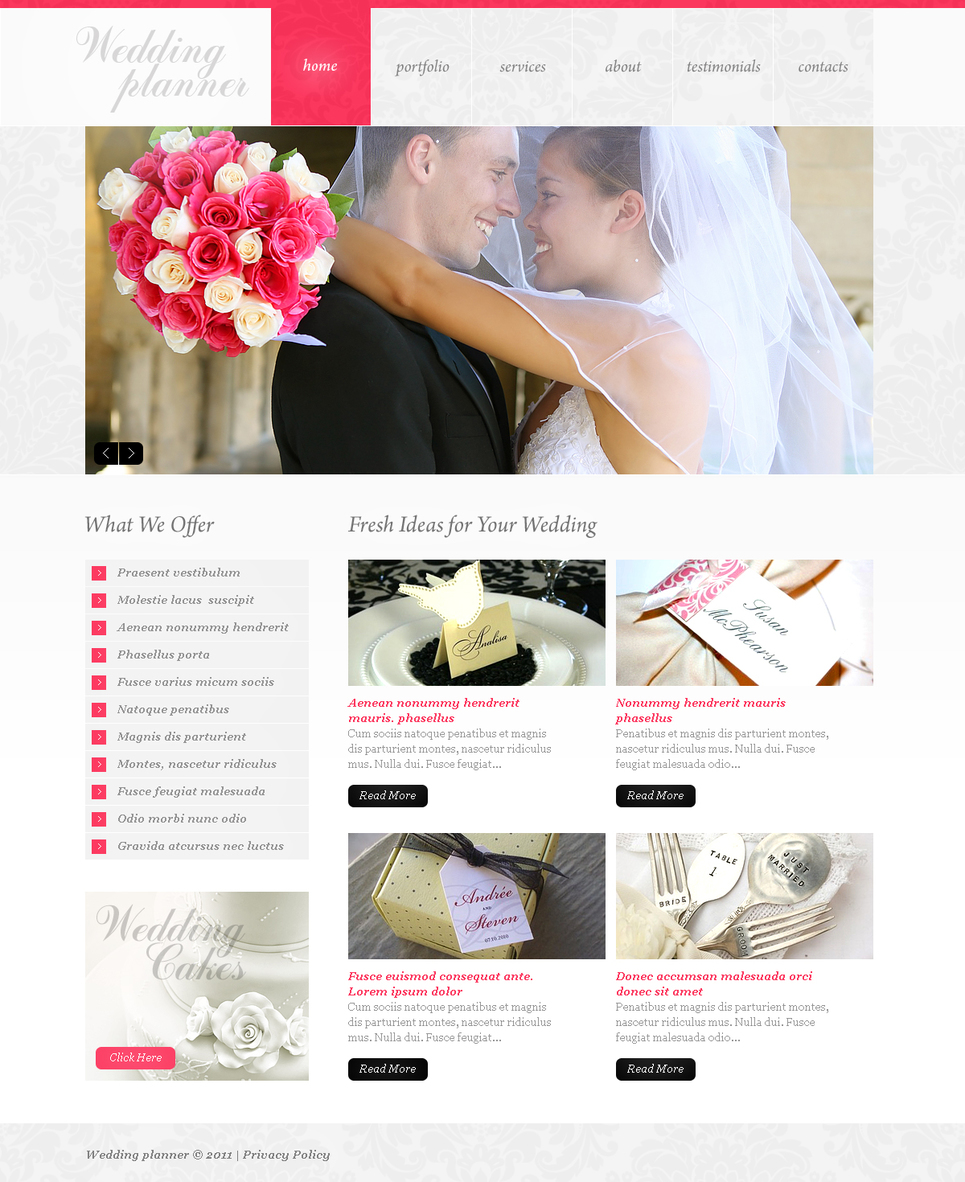 Romantic Wedding Website Template with a Photo Gallery - image