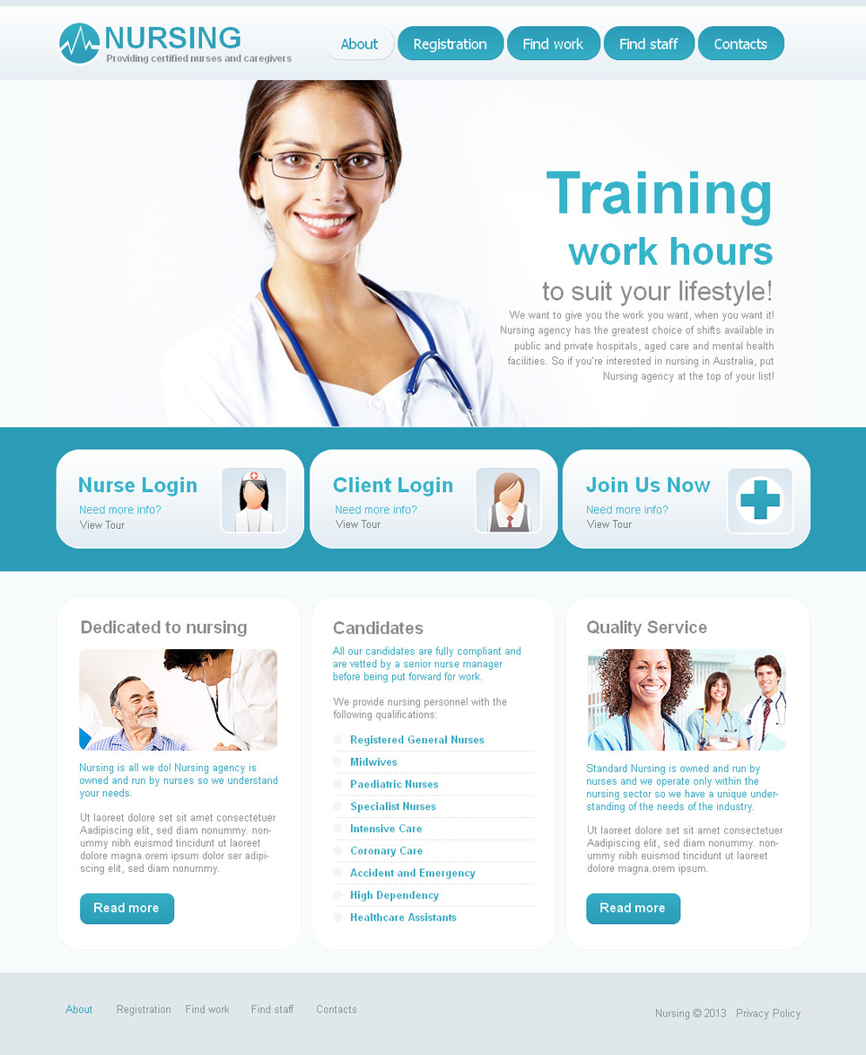 Nursing Website Template with jQuery Slider - image