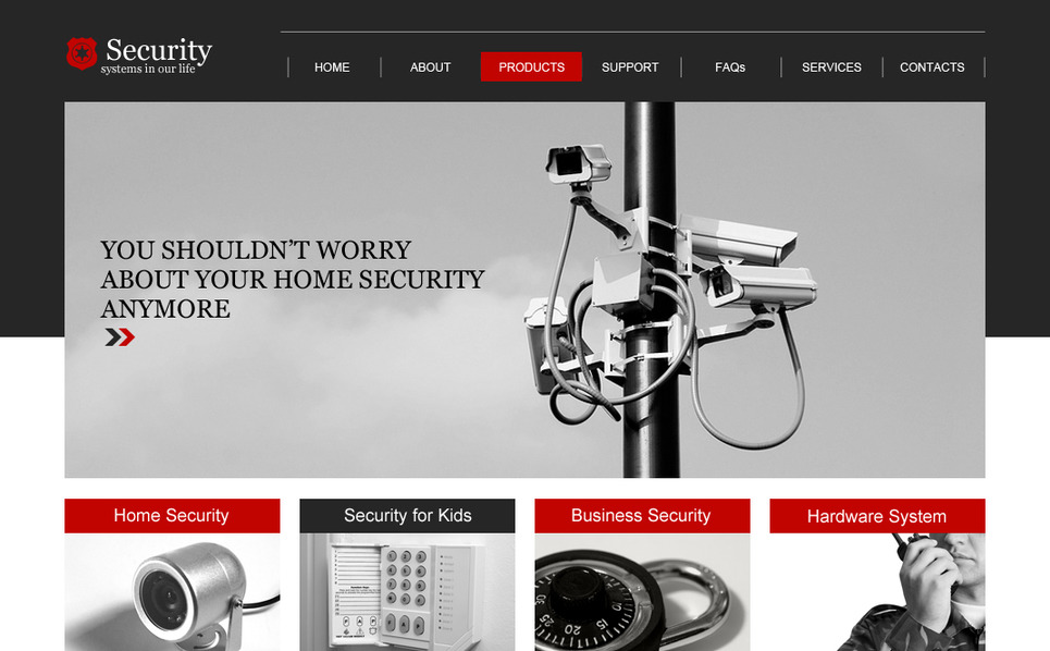 Premium Moto CMS HTML Template over Beveiliging New Screenshots BIG