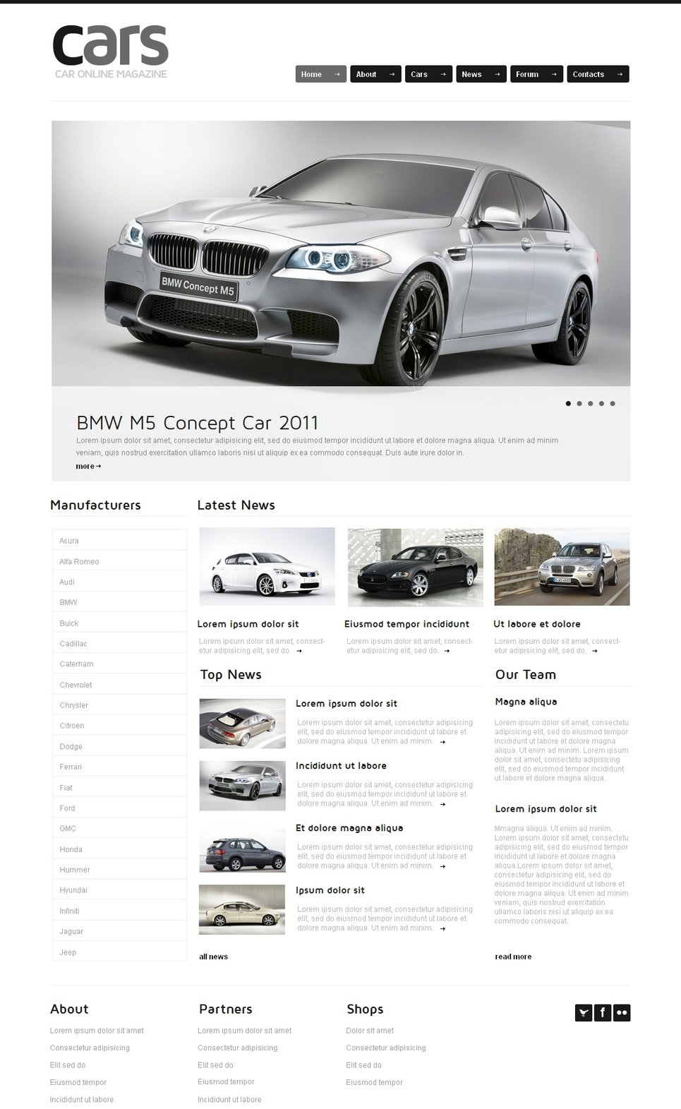 Cars Web Template on White Background - image