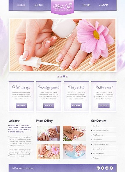 ADOBE Photoshop Template 42459 Home Page Screenshot