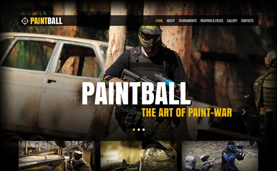 Template Moto CMS HTML para Sites de Paintball №42460 New Screenshots BIG