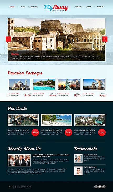 ADOBE Photoshop Template 42461 Home Page Screenshot