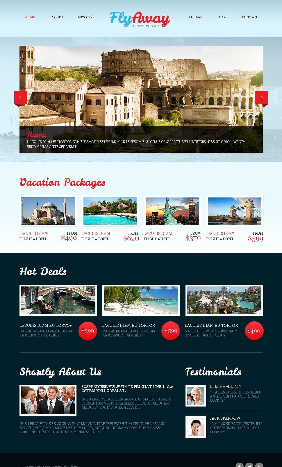 Website Template with a Photo Gallery for Travel Agencies - image