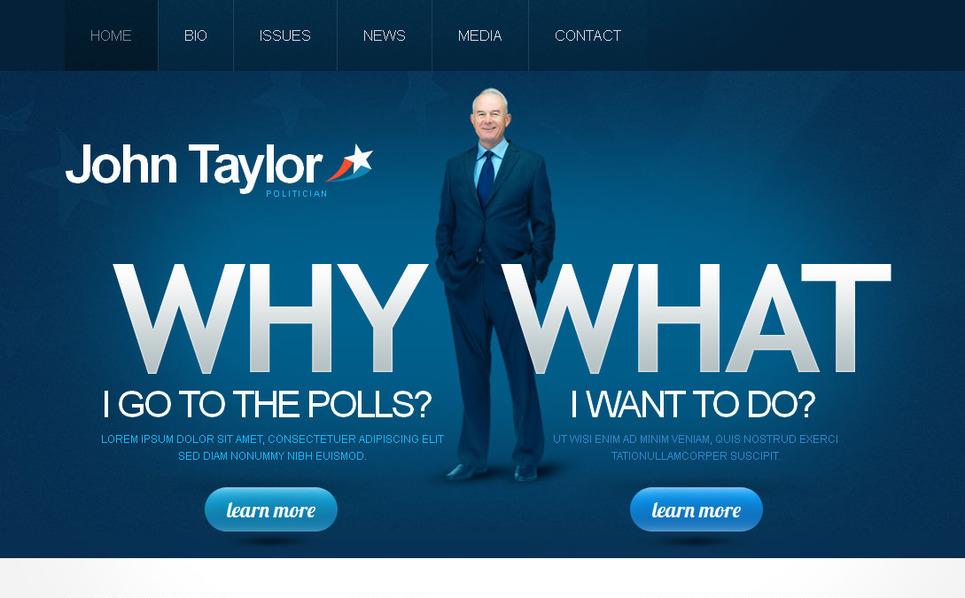 MotoCMS HTML шаблон на тему політичний кандидат New Screenshots BIG