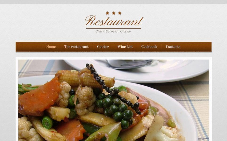 Modèle Moto CMS HTML  pour site de café et restaurant New Screenshots BIG