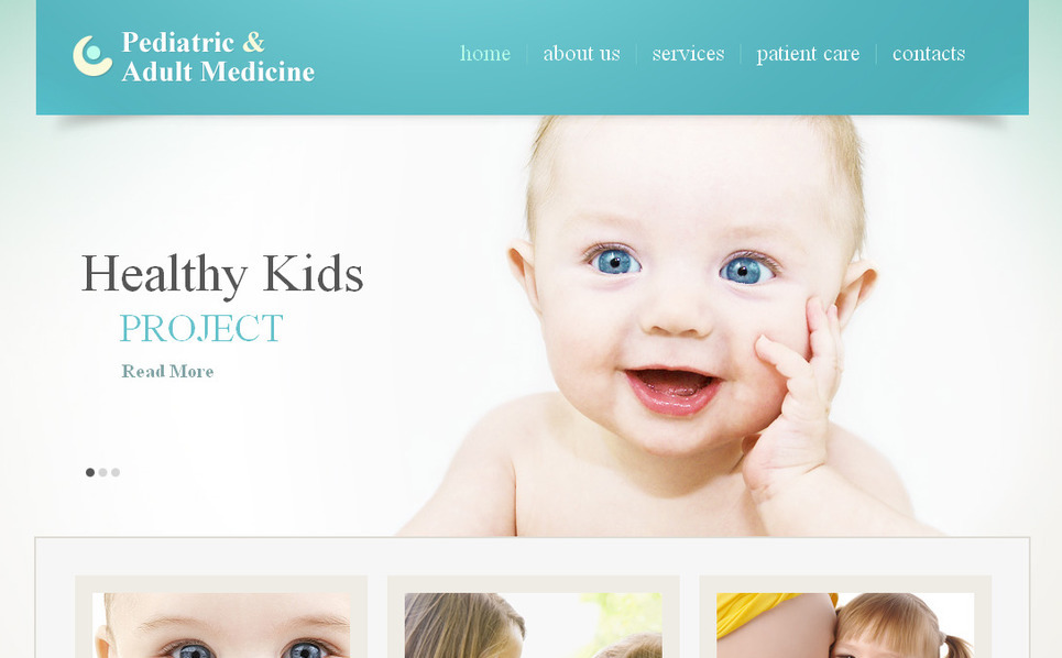 Premium Moto CMS HTML Template over Kinderarts  New Screenshots BIG