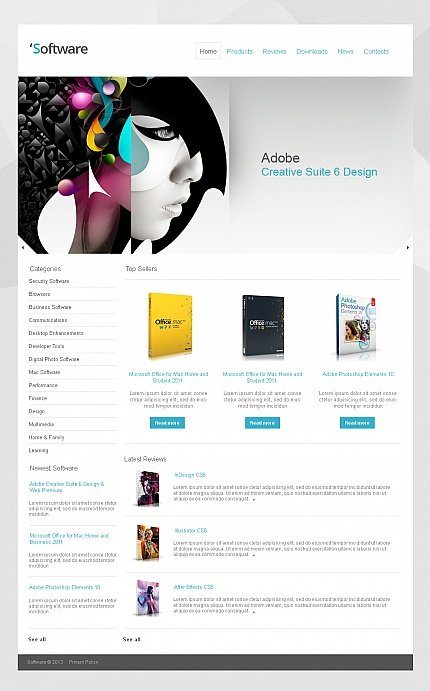 ADOBE Photoshop Template 42466 Home Page Screenshot