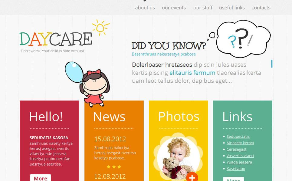 Premium Moto CMS HTML Template over Kinderdagverblijf  New Screenshots BIG