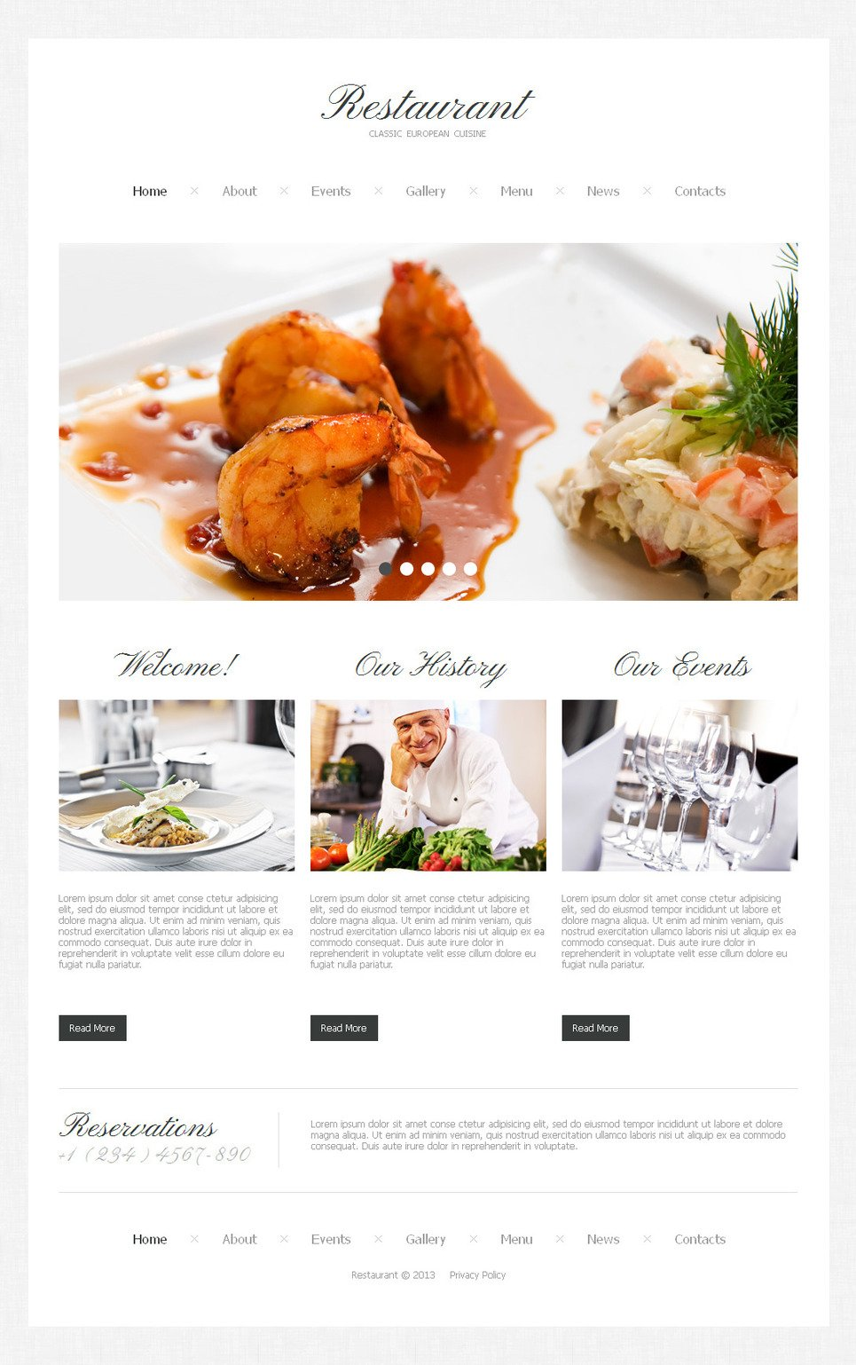 Restaurant Website Template for Classic European Cuisine Lovers - image