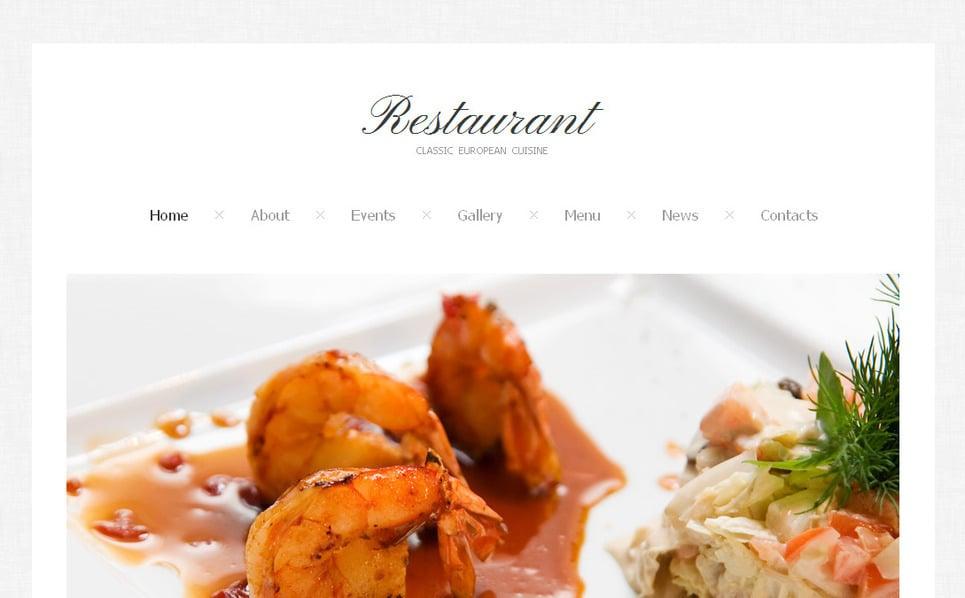 Luxusní Moto CMS HTML šablona na téma Kavárny a Restaurace New Screenshots BIG