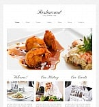 Cafe & Restaurant Moto CMS HTML  Template 42470