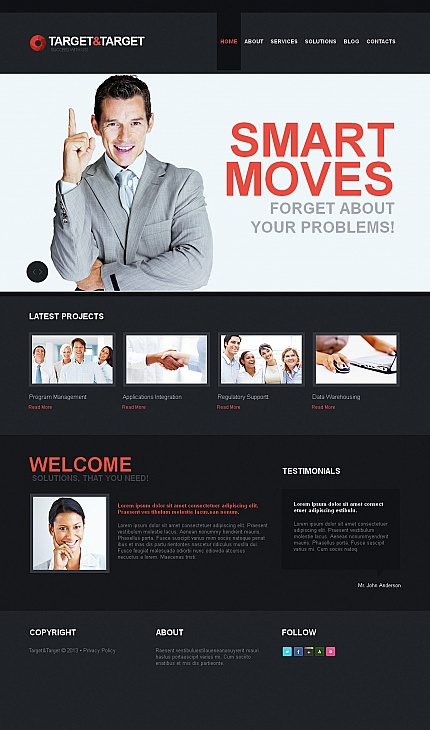 ADOBE Photoshop Template 42471 Home Page Screenshot