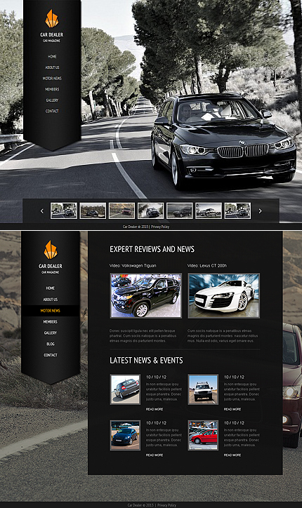 ADOBE Photoshop Template 42473 Home Page Screenshot