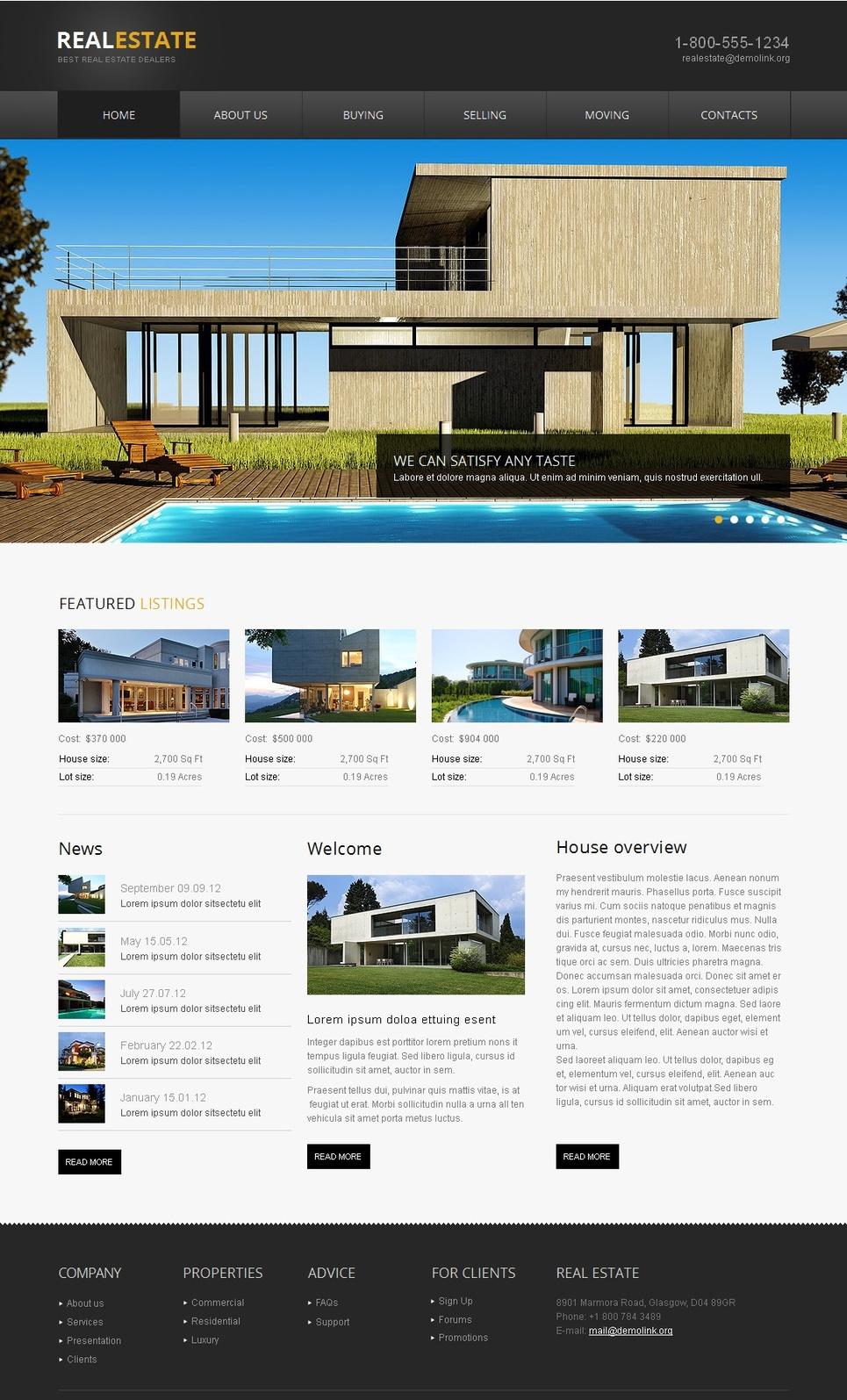 Website Template for Real Estate Dealers - image