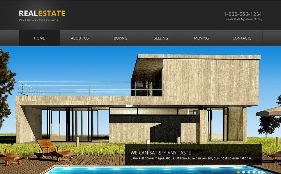 Tema Moto CMS HTML  #42474 per Un Sito di Agenzia Immobiliare New Screenshots BIG