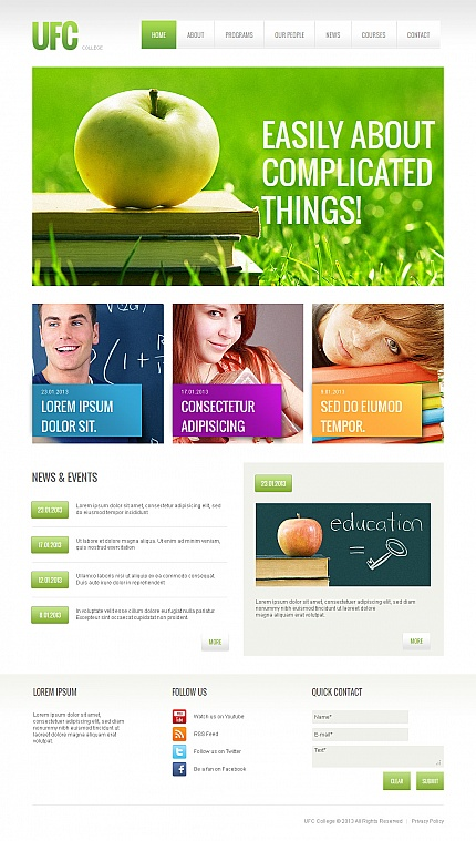 ADOBE Photoshop Template 42477 Home Page Screenshot