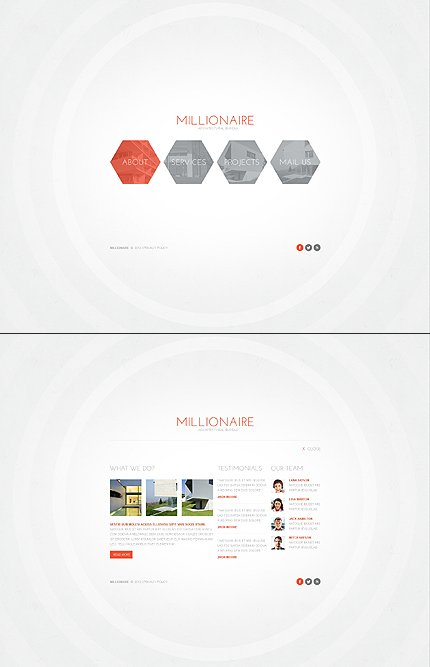 ADOBE Photoshop Template 42478 Home Page Screenshot