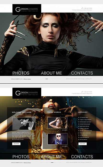 ADOBE Photoshop Template 42479 Home Page Screenshot