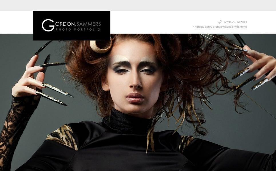 Modèle Moto CMS HTML  pour portfolio de photographe New Screenshots BIG