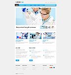 Science Website  Template 42481