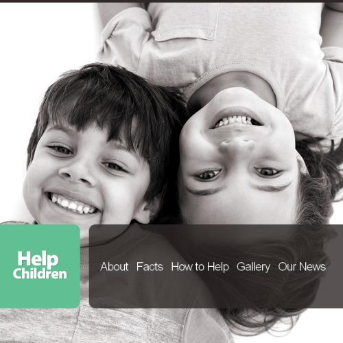 Help Children - Facebook HTML CMS Template