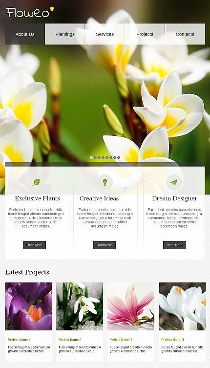 Flowers Facebook HTML CMS Template Facebook Screenshot
